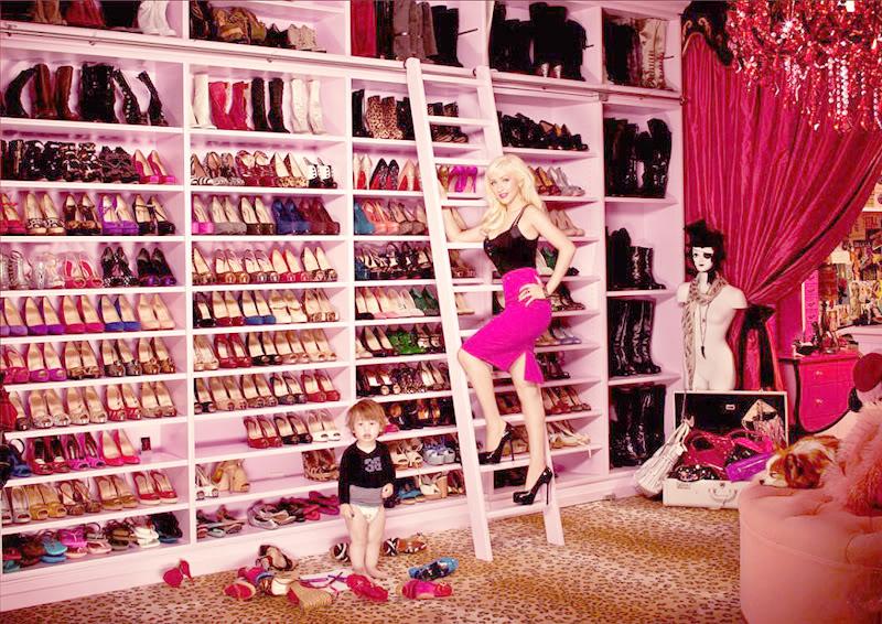 Christina Aguilera walk in closet