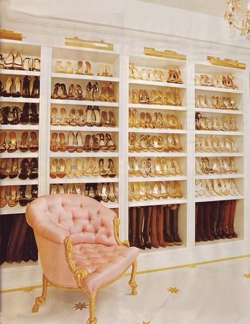 Mariah Carey walk in closet
