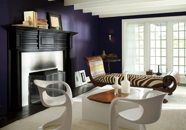 Shadow, a deep saturated purple, is Benjamin Moore's 2017 Color of the Year. MUST CREDIT: John Bessler - Benjamin Moore.