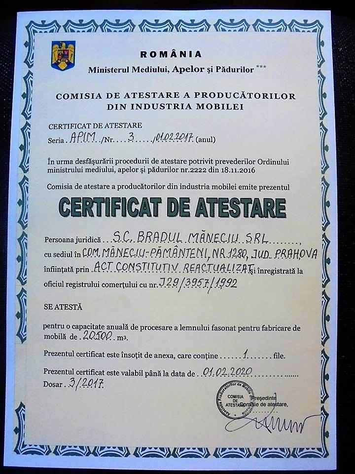 Certificat de Atestare