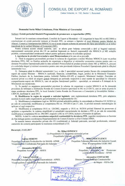 Programul de promovare a exporturilor