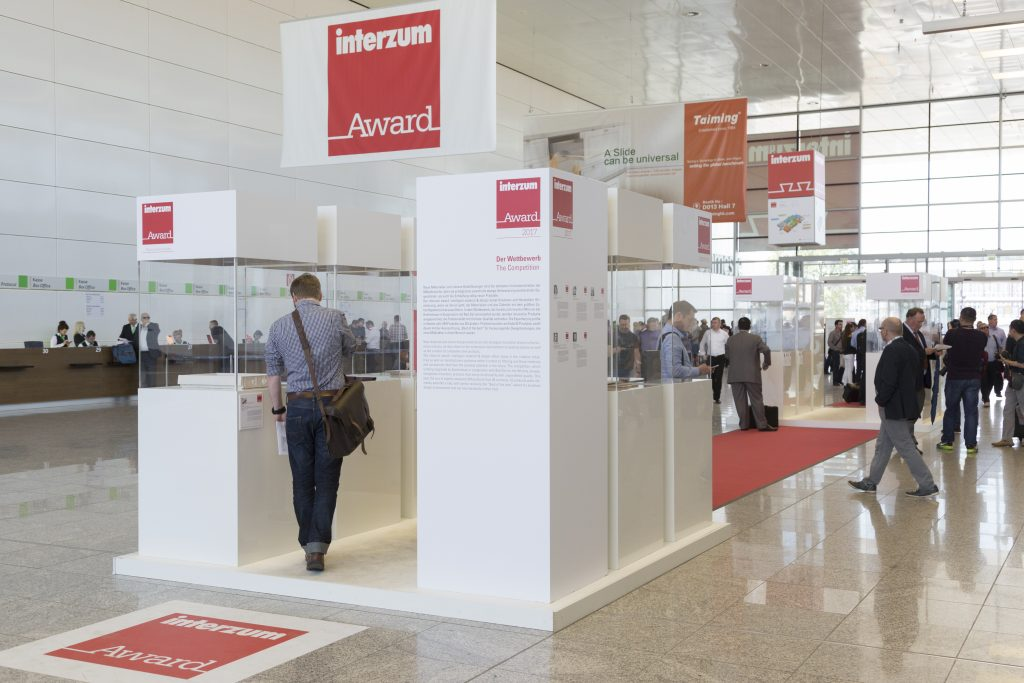 Sonderfläche: Ausstellung interzum award, Eingang Süd