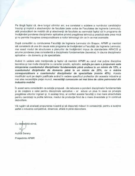 Scrisoare ARACIS - partea a II-a