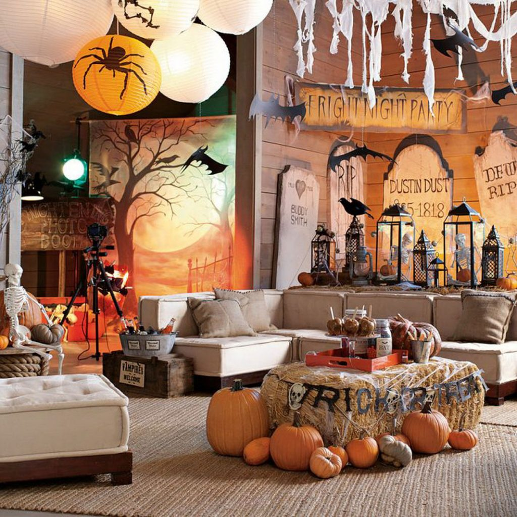 Decor de Halloween acasa