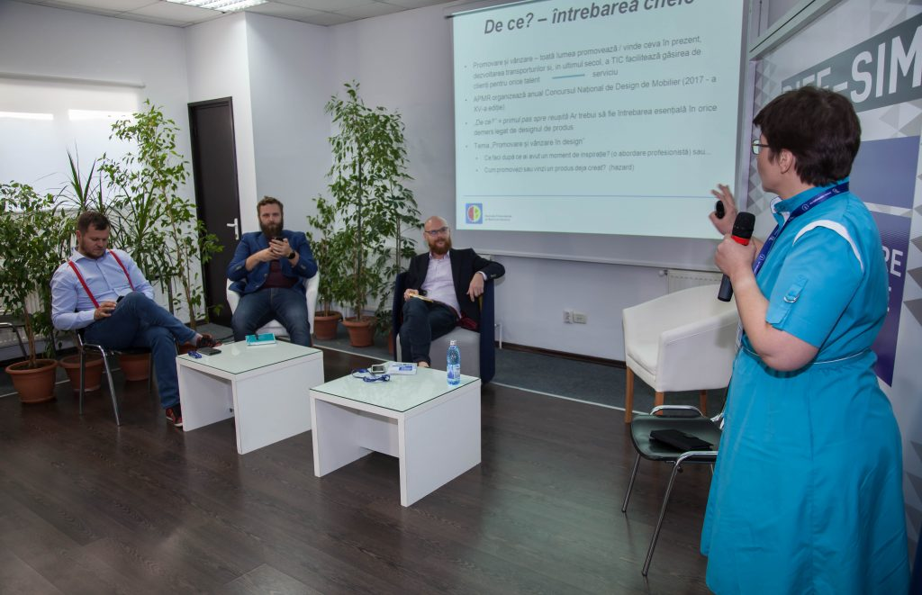 Andreea Paraschiv coordonator de proiect ErgoSign la Conferinta de design 2017