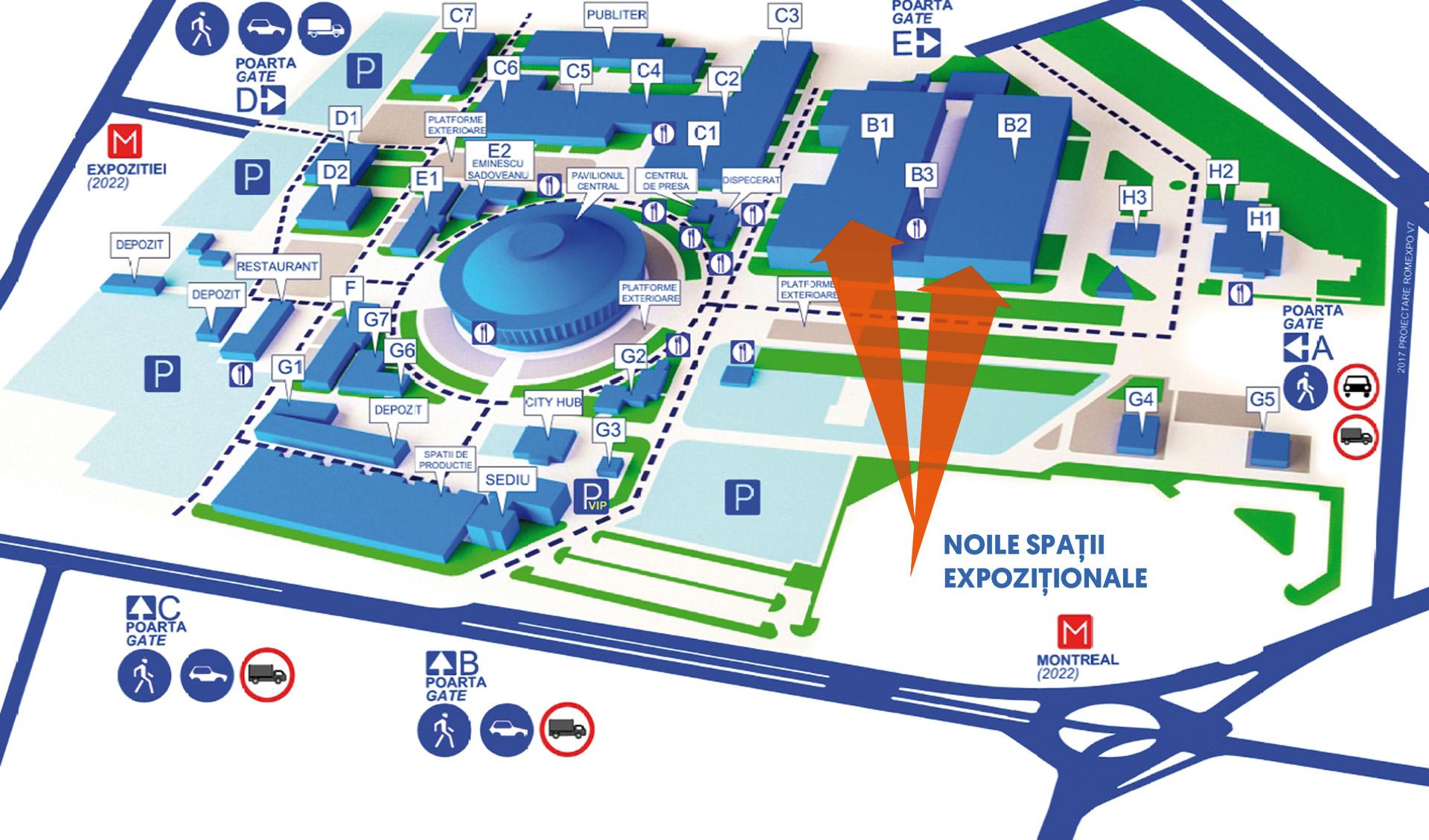 Harta Romexpo Cu Noile Pavilioane Revista Mobila